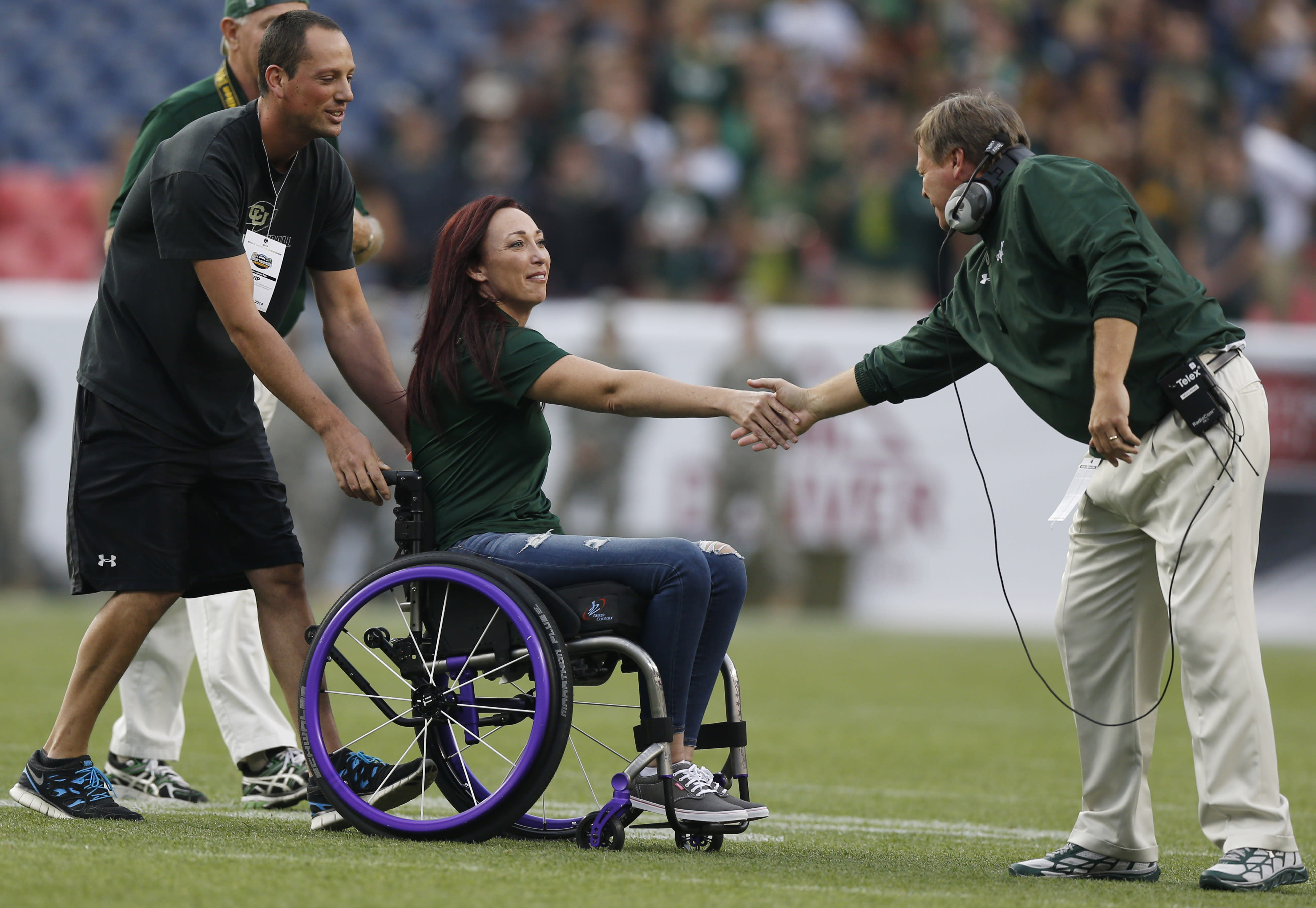 Amy Van Dyken returns to broadcast booth after ATV accident