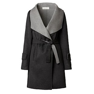 Two tone grey coat by Gerard Darel