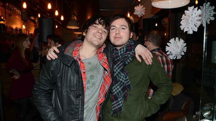 IMAGE DISTRIBUTED FOR THE HUFFINGTON POST UK - Kieren Webster, left, and Darren Rennie of Scottish band The View seen at a HuffPost UK event at Espresso Bar Mozzino, on Monday, Dec. 10, 2012, in London. Part of celebrations for a new initiative from the Huffington Post UK whereby they will be providing free Wi-Fi to independent coffee shops,  (Photo by Jon Furniss/Invision for The Huffington Post UK/AP Images)