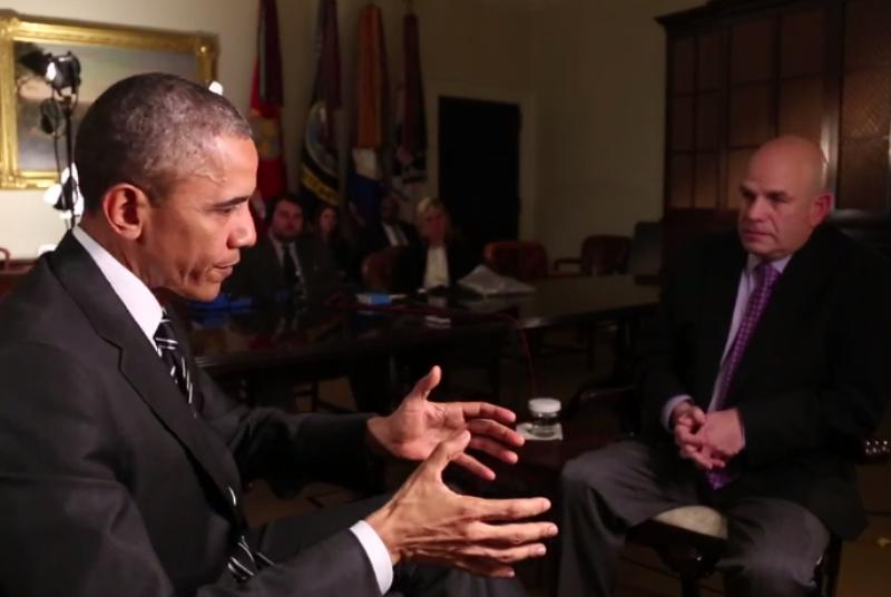 Watch President Obama interview David Simon about The Wire