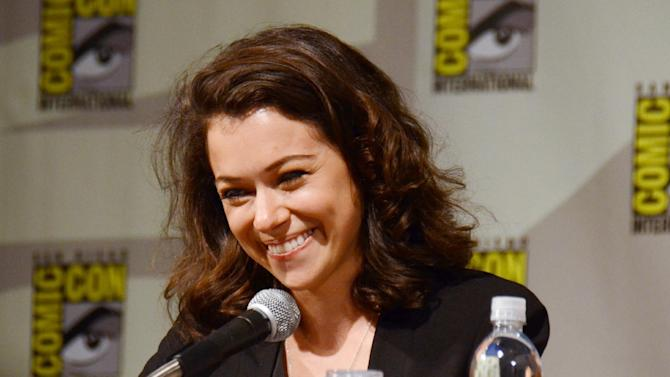 """Tatiana Maslany attends the """"Orphan Black"""" panel on Day 2 of Comic-Con International on Friday, July 25, 2014, in San Diego. (Photo by Tonya Wise/Invision/AP)"""