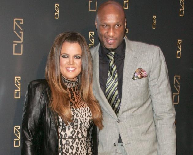 Khloe Kardashian and Lamar Odom attend the grand opening of RYU in New York City on April 23, 2012 -- Getty Premium