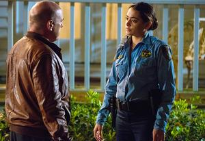 Dean Norris and Natalie Martinez | Photo Credits: Michael Tackett/CBS