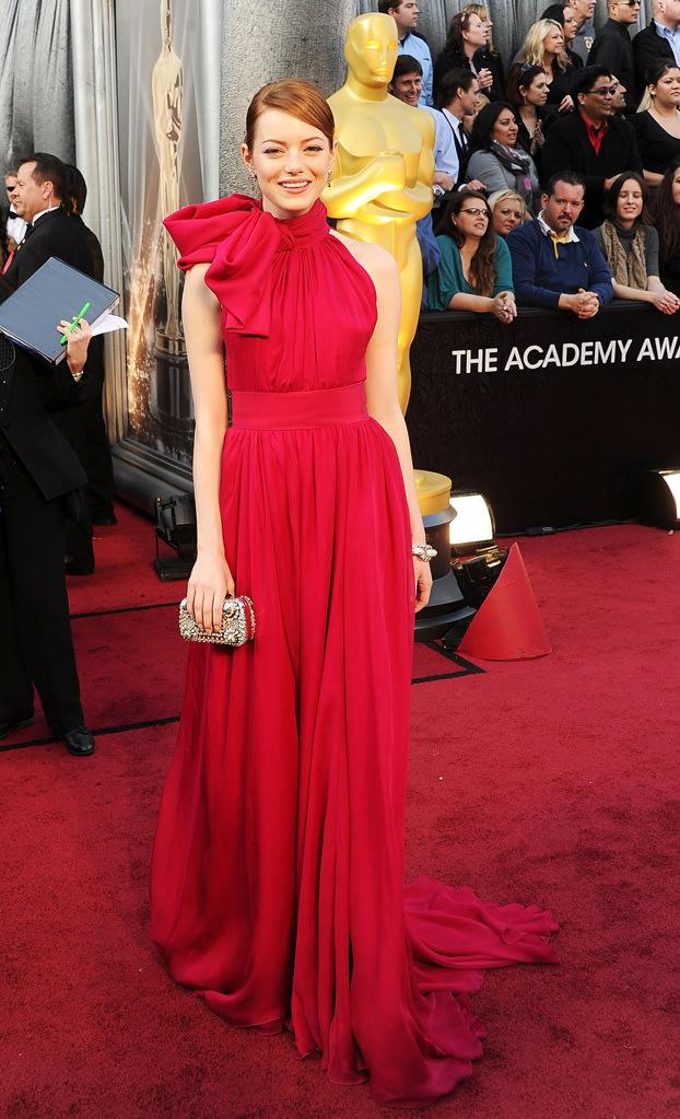 2012 Oscar Arrivals Emma Stone