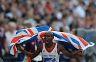 "Britain's Mohamed Farah celebrates after winning the men's 5000m final at the London 2012 Olympic Games on August 11. Britain's Olympic athletes were hailed as the nation's ""greatest ever team"" on Sunday after they seized the most medals in more than a century at the London Games"