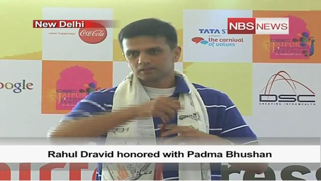Rahul Dravid honored with Padma Bhushan