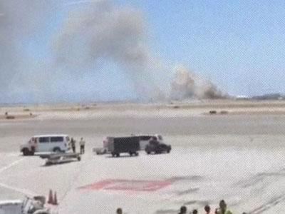 Raw: Airliner Crashes on Landing at SF Airport