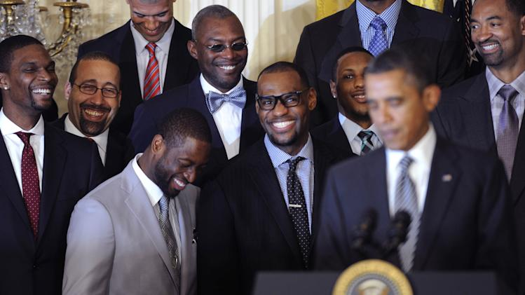 NBA: Miami Heat-White House Visit