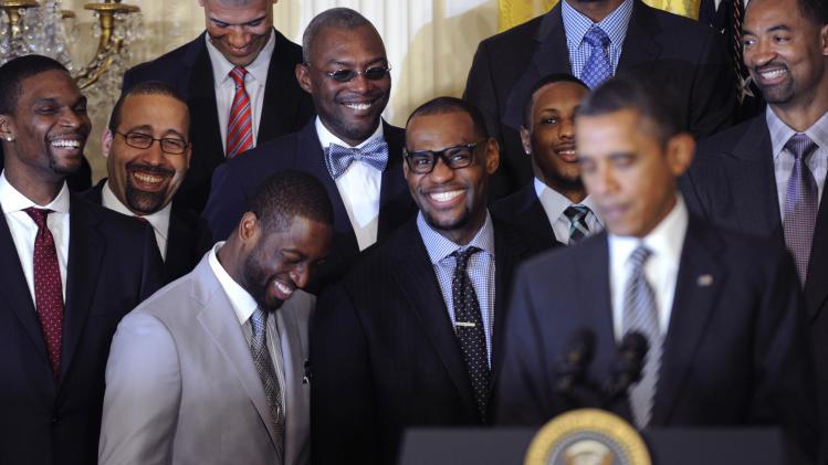 NBA: Miami Heat-White House Visit