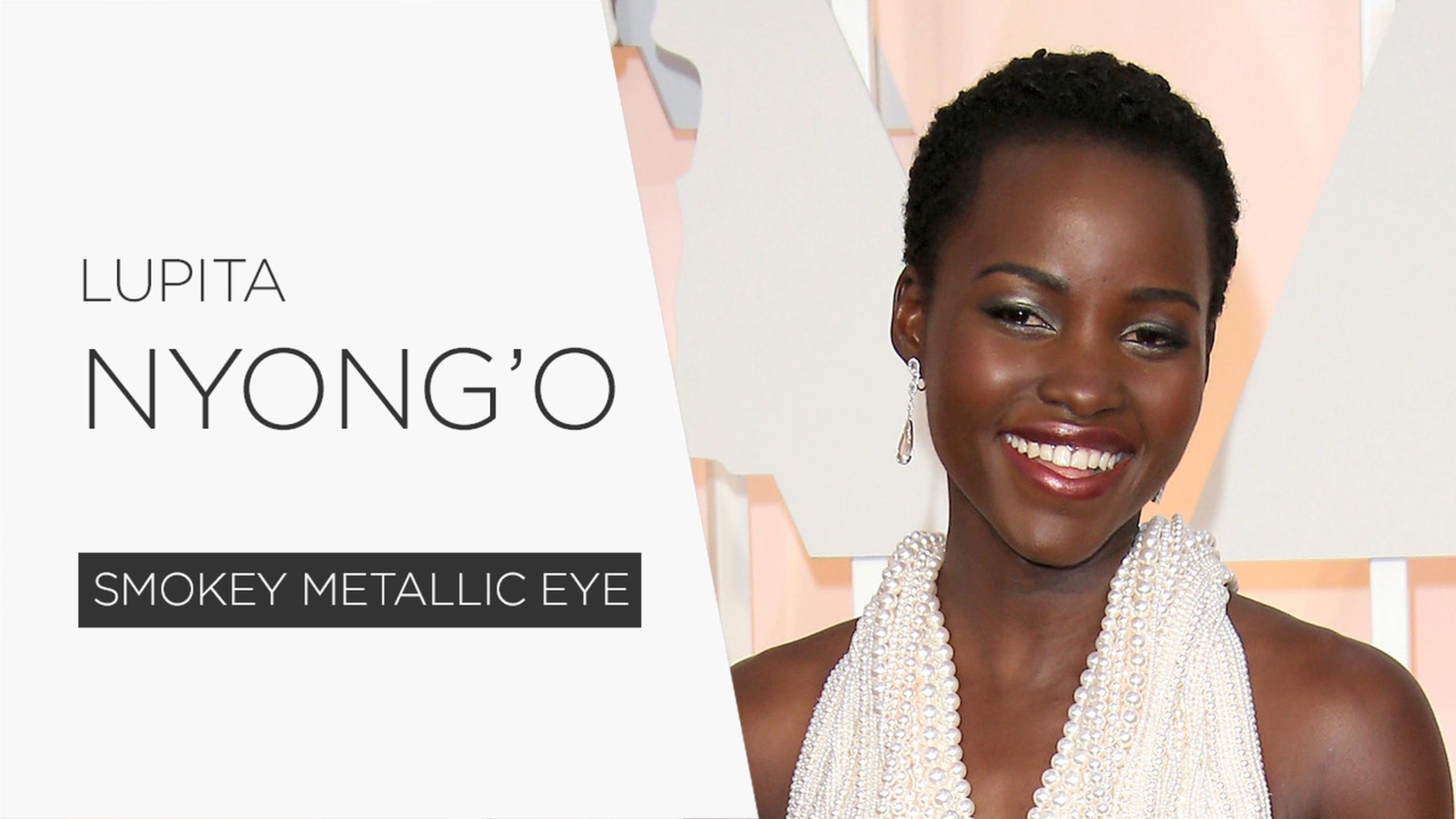How to Get Lupita Nyong'o's Metallic Smoky Eye [VIDEO]