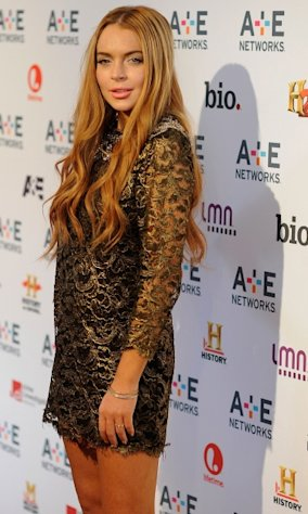 Lindsay Lohan is seen at the A&E Networks 2012 Upfront at Lincoln Center in New York City on May 9, 2012 -- Getty Images