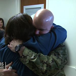 Watch: Happy surprise for service member's family