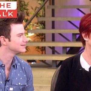 "The Talk - Chris Colfer talks ""Brian the Cat"""