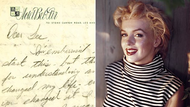 Letters From a 'Lost' Marilyn Monroe, Angry John Lennon to Be Auctioned (ABC News)