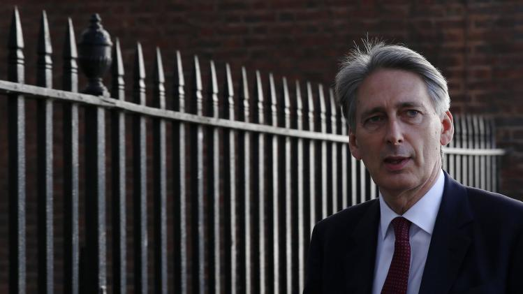 Britain's Foreign Secretary Philip Hammond leaves Downing Street in London after a COBR meeting in London