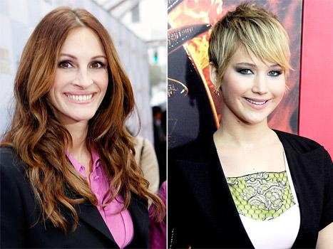 "Julia Roberts Thinks Jennifer Lawrence Is ""Too Cool"" to Be America's Sweetheart: ""She Shoots Flaming Arrows!"""