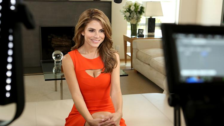 IMAGE DISTRIBUTED FOR PHILIPS SONICARE AND ZOOM - Maria Menounos seen on set for Philips Sonicare and Zoom sharing her best summer beauty tips, on Wednesday, June 12, 2013 in Los Angeles, CA. (Photo by Casey Rodgers/Invision for Philips Sonicare and Zoom/AP Images)