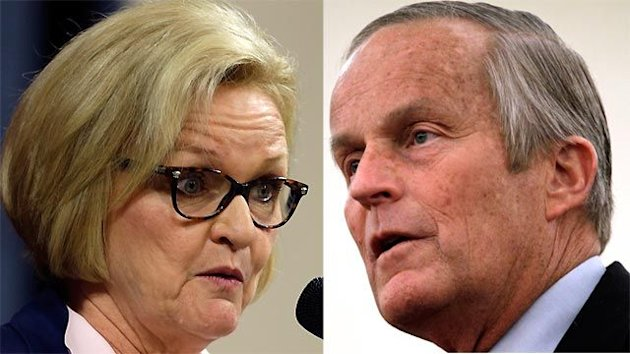 Todd Akin trying to defeat incumbent Claire McCaskill
