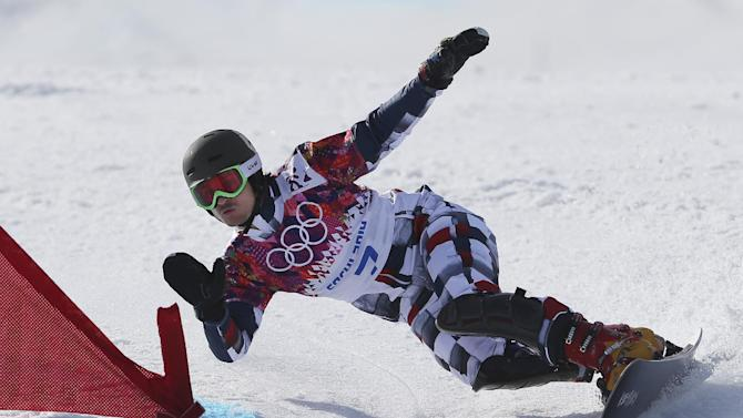 Russia's snowboard couple medals together in Sochi