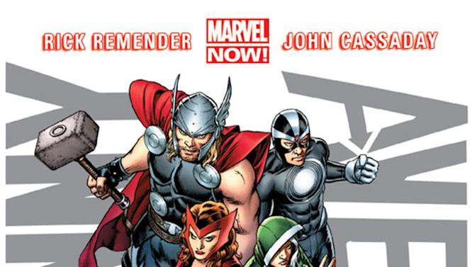 "This image provided by Marvel Entertainment shows the cover of the first issue of ""Uncanny Avengers."" In comics, the first issue is where the story starts and the legend begins. Marvel Entertainment, home to the Fantastic Four, the X-Men and the Avengers, among others, is making more than 700 first issues available to digital readers starting Sunday, March 10, 2013, via its app and website. (AP Photo/Marvel Entertainment)"