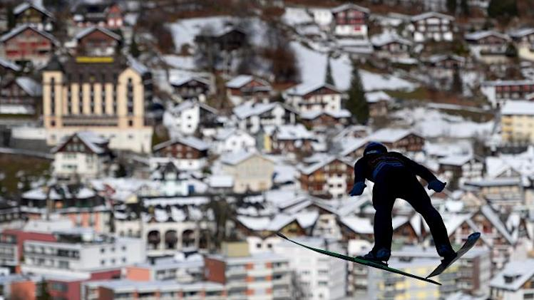Ski jumper's view