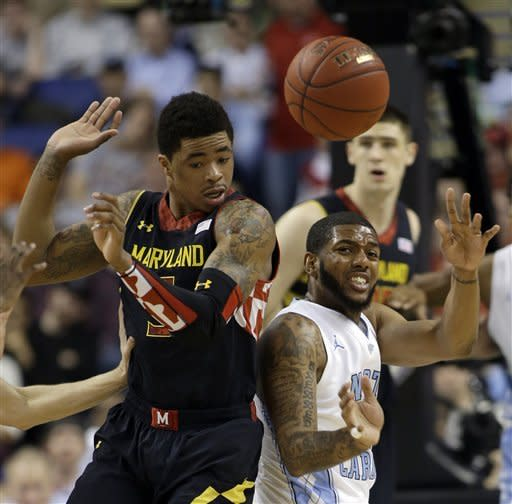 UNC hangs on to beat Maryland 79-76 in ACC semis