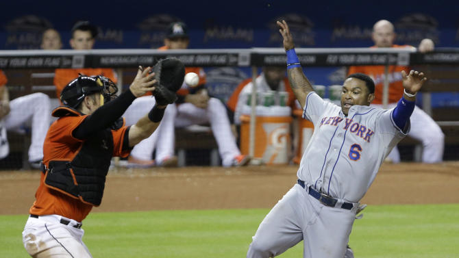 Murphy has 3 RBIs to lead Mets to win over Marlins