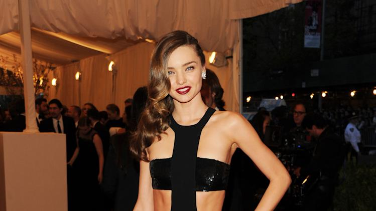 "Miranda Kerr attends The Metropolitan Museum of Art's Costume Institute benefit celebrating ""PUNK: Chaos to Couture"" on Monday, May 6, 2013 in New York. (Photo by Evan Agostini/Invision/AP)"