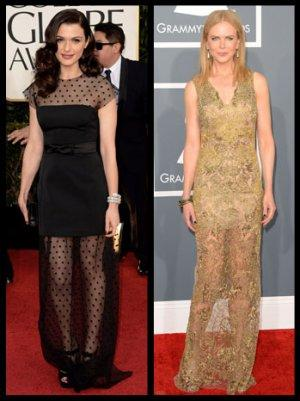 Rachel Weisz, Nicole Kidman Vie for Best-Dressed in Sheer Bi-Level Gowns (Poll)