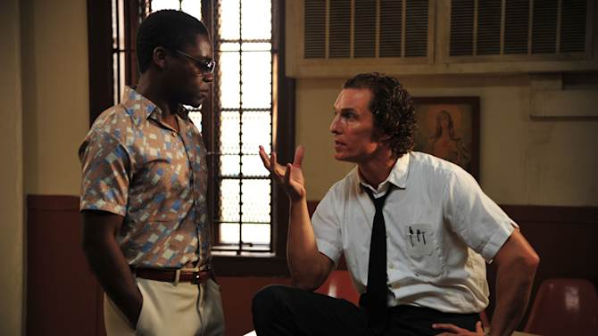 """This film image released by Millennium Films shows David Oyelowo, left, and Matthew McConaughey in a scene from """"The Paperboy.""""  (AP Photo/Millennium Films, Anne Marie Fox)"""