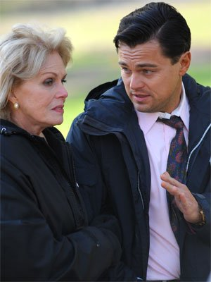 Joanna Lumley, left, and Leonardo DiCaprio in 'The Wolf of Wall Street'