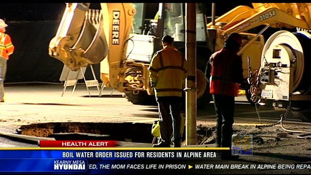 Boil water order issued for residents in Alpine area