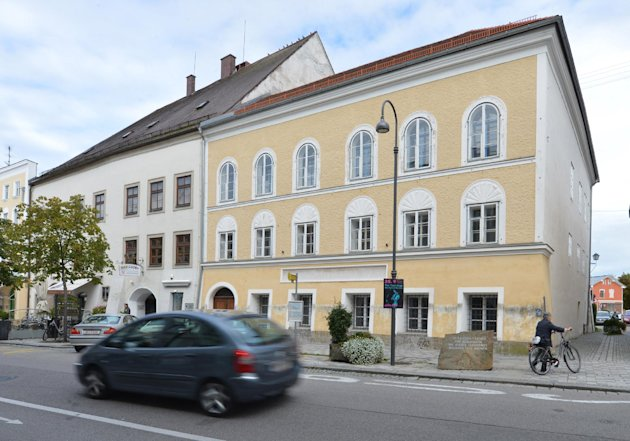 Exterior view of Adolf Hitler&#39;s birth house in Braunau am Inn, Austria, Thursday, Sept. 27, 2012. With its thick walls, huge arched doorway and deep-set windows, the 500-year old house near the town square would normally be prime property. Because Hitler was born here, it has become a huge headache for town fathers forced into deciding what to do with a landmark so intimately linked to evil. (AP Photo / Kerstin Joensson)
