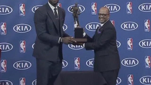 LeBron wins MVP award again