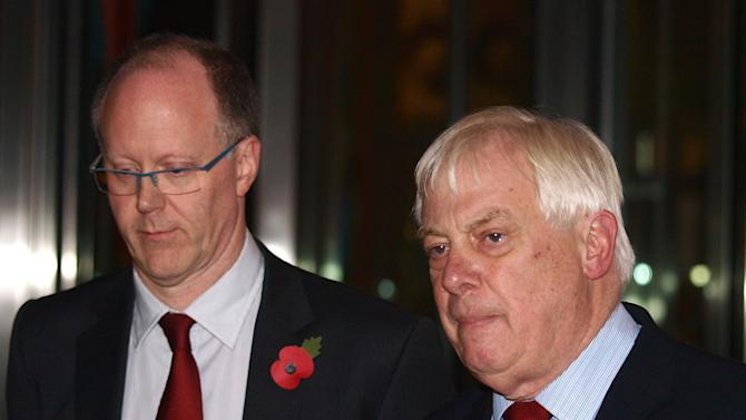 "The BBC Director General, George Entwistle, left, stands with the Chairman of the BBC Trust, Lord Chris Patten, as he announces his resignation as Director General outside New Broadcasting House in central London, after recent news program problems, Saturday Nov. 10, 2012. The BBC's director general had said earlier Saturday that it should not have aired a report that wrongly implicated a politician in a child sex-abuse scandal, admitting that the program further damaged trust in a broadcaster already reeling from the fallout over its decision not to air similar allegations against one of its star hosts. George Entwistle's comments followed an embarrassing retreat for the BBC, which apologized Friday for its Nov. 2 ""Newsnight"" TV show on alleged sex abuse in Wales in the 1970s and 1980s. During the program, victim Steve Messham claimed he had been abused by a senior Conservative Party figure. The BBC didn't name the alleged abuser, but online rumors focused on Alistair McAlpine, a Conservative Party member of the House of Lords. On Friday, he issued a fierce denial and threatened to sue.  (AP Photo/ Max Nash)"