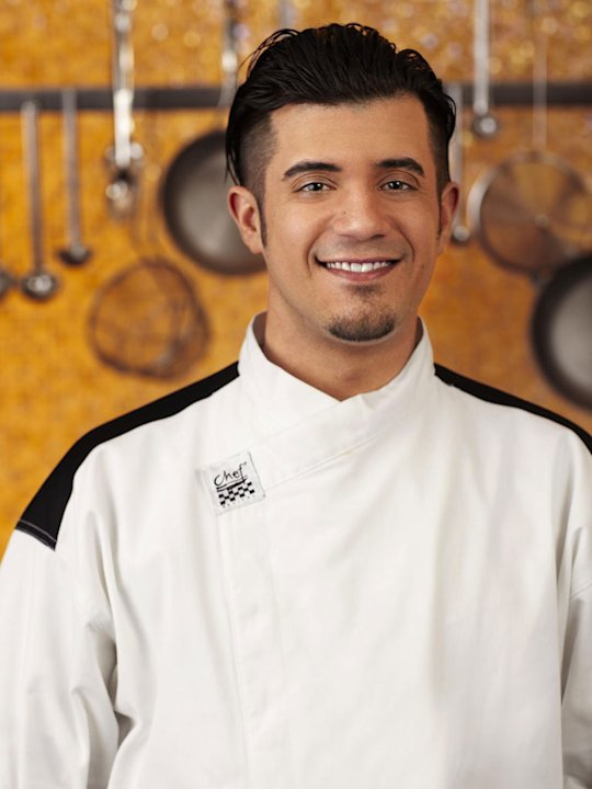 "Vinny Accardi Jr. (Las Vegas, NV) is a contestant on the Blue Team on Season 8 of ""Hell's Kitchen."""