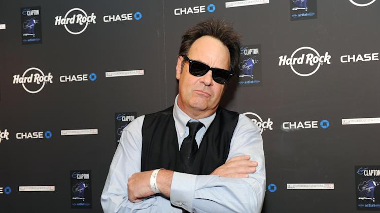 IMAGE DISTRIBUTED FOR HARD ROCK INTERNATIONAL - Actor and musician Dan Aykroyd attends Eric Clapton's Crossroads Guitar Festival artist party at The Hard Rock Cafe New York on Thursday, April 11, 2013 in New York City, New York. (Photo by Evan Agostini/Invision for Hard Rock International/AP Images)