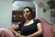 "Sandra Payes Chacon, wife of Rony Molina, poses for a portrait at a friends home in Atlixco, Mexico, Thursday, June 7, 2012. Sandra, who lived in the U.S. illegally, was deported to Guatemala a year and a half ago. She left behind her husband and her three children, all of them U.S. citizens. In the first six months of 2011, the United States removed more than 46,000 immigrants who were the parents of American-born children according to Immigration and Customs Enforcement (ICE). The number was first reported in a study called ""Shattered Families"" by the Applied Research Center, a New York-based social justice organization. Nearly 45,000 such parents were removed in the first six months of this year, according to the ICE. (AP Photo/Dario Lopez-Mills)"
