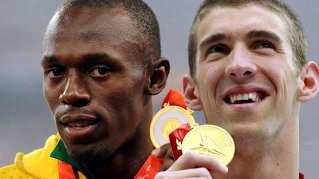 OLYMPIC GAMES 2008 Beijing 2008 Usain Bolt - Michael Phelps