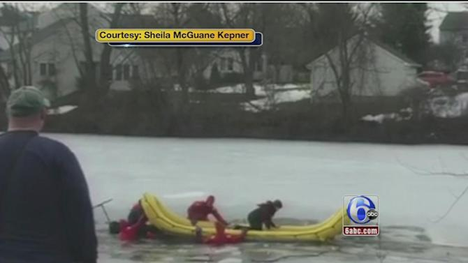 3 boys rescued after falling through frozen pond in Chalfont, Bucks County