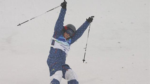 FREESTYLE SKIING Heather McPhie of the United States