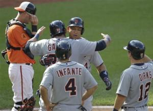 Tigers hit 4 HRs in 8-run 4th, beat Orioles 10-3
