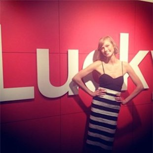 Karlie Kloss at the Lucky Office