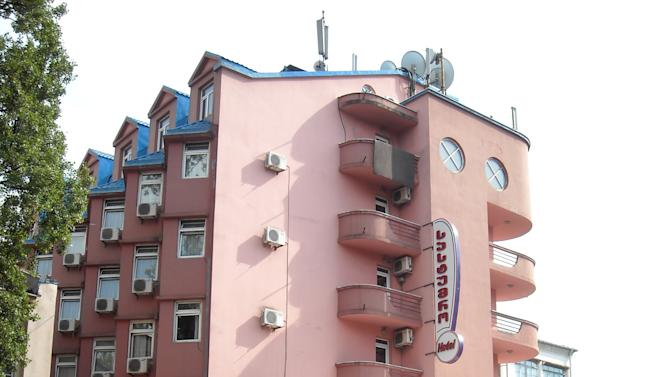 This June 24, 2012 photo shows the Hotel L Bakuri in Batumi, Georgia, on the Black Sea coast near the Turkish Border. In April 2012, three men gathered in secret at the hotel to talk about a deal for radioactive material. Despite years of effort and hundreds of millions of dollars spent in the fight against the illicit sale of nuclear contraband, the black market remains active in the countries around the former Soviet Union. (AP Photo/Desmond Butler)