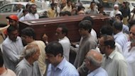 "Relatives carry the coffin of Pakistani journalist Syed Saleem Shahzad during his funeral ceremony in Karachi, last month. Pakistan has criticised as ""extremely irresponsible"" remarks from the top US military officer saying that Islamabad may have approved the killing of the journalist"