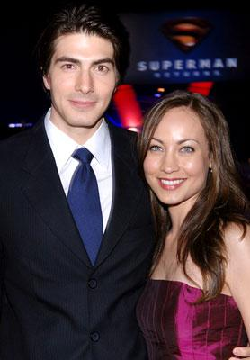 Brandon Routh and Courtney Ford at the Westwood premiere of Warner Bros. Pictures' Superman Returns