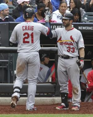 Craig helps Cards beat Mets to stop 5-game skid