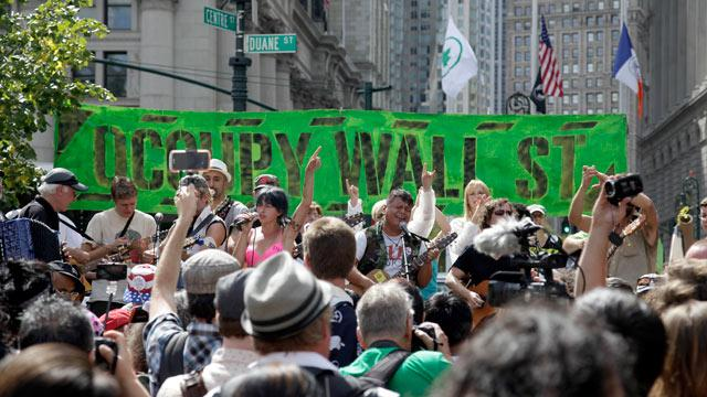 Occupy Wall Street Anniversary Protests Dwarfed by Police Presence
