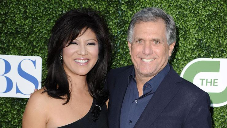 """The Talk's"" Julie Chen and CBS President and CEO Les Moonves arrive at the TCA Summer 2010 CBS/The CW/Showtime ""Star Party in the Tent"" on July 28, 2010 in Beverly Hills, California."