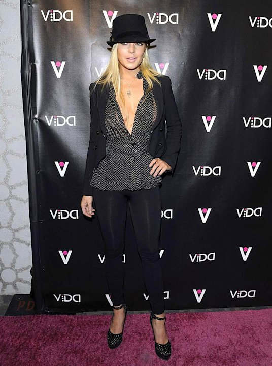 Lohan Lindsay VIDA Party